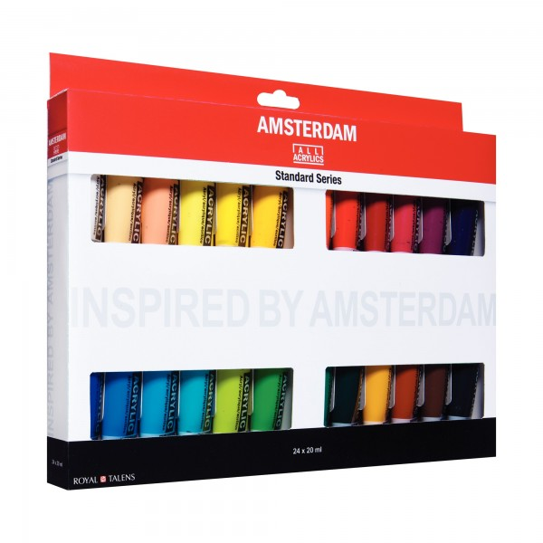 AcrylfarbenSet Amsterdam | 24x 20ml