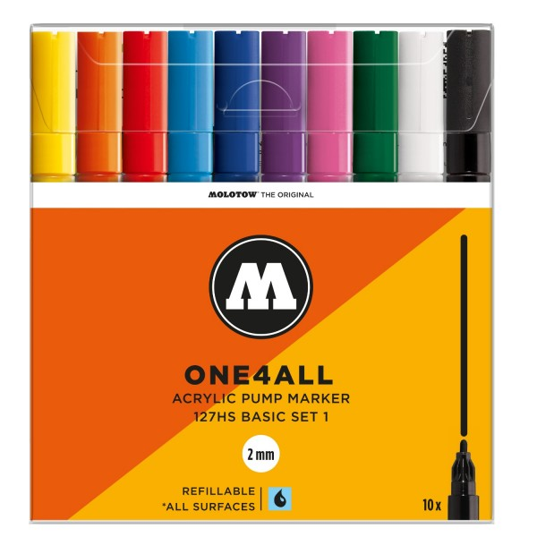 2mm Marker SETs   ONE4ALL™ Molotow Marker 127HS