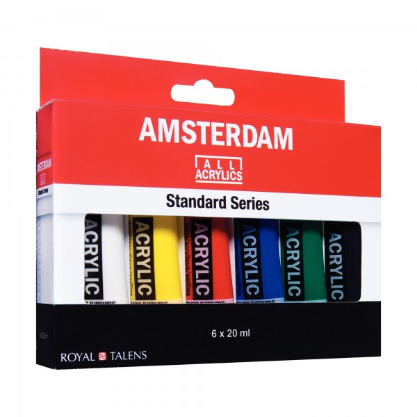 AcrylfarbenSet Amsterdam | 6x 20ml
