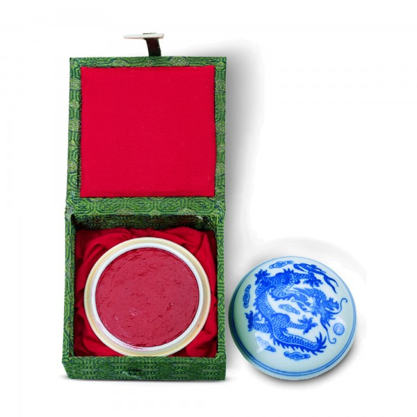 Red Chinese stamp ink