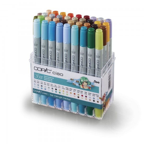 MANGA Set | COPIC ciao | 36 Farben